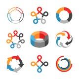 Ensemble d'éléments d'infographics Photographie stock