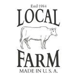 Ensemble d'éléments de conception de label de vecteur d'agriculture Image libre de droits