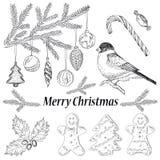 Ensemble d'objet de Noël Image stock