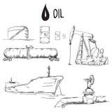 Ensemble d'objets d'industrie pétrolière  Photo libre de droits