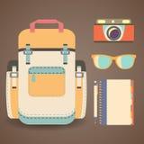 Ensemble d'objets dans un style plat Photographie stock libre de droits