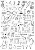 Ensemble d'objets de cuisine Photos libres de droits