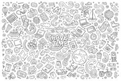 Ensemble d'objets et de symboles de planification de voyage illustration libre de droits