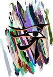 Ensemble d'oeil de Rha sur le fond coloré d'isolement Images libres de droits