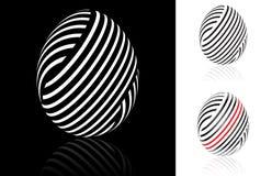 Ensemble d'oeuf de pâques abstrait illustration de vecteur