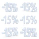 ensemble d'offre de Noël découpé par prix de 15 pour cent Images stock