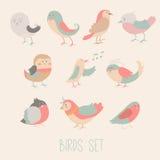 Ensemble d'oiseau illustration de vecteur