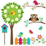 Ensemble d'oiseaux Image stock