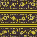 Ensemble d'oiseaux drôles Galerie de tir abstraite Vecteur Images stock