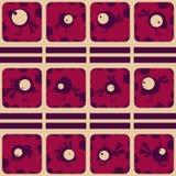 Ensemble d'oiseaux drôles Galerie de tir abstraite Vecteur Image libre de droits