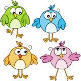 Ensemble d'oiseaux mignons colorés Image stock
