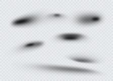 Ensemble d'ombre ovale transparente avec les bords mous Illustration de vecteur Image stock
