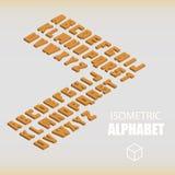 Ensemble d'orange isométrique d'alphabet Photographie stock libre de droits