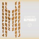 Ensemble d'orange isométrique d'alphabet Image stock