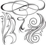 Ensemble d'ornements 4 illustration de vecteur