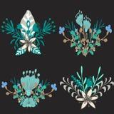 Ensemble d'ornements floraux illustration de vecteur