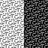 Ensemble d'ornements géométriques Configurations sans joint noires et blanches Photos stock