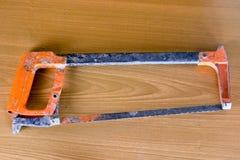Ensemble d'outils au-dessus d'un panneau en bois avec l'espace pour le texte, ensemble de constr Photos libres de droits