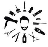 Ensemble d'outils de coiffeur pour les hommes Image stock