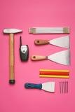 Ensemble d'outils de construction Photos stock