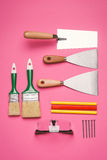 Ensemble d'outils de construction Photo stock