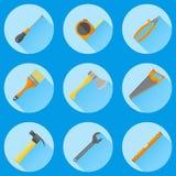 Ensemble d'outils de construction Icônes plates illustration stock