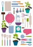 Ensemble d'outils de cuisine Photographie stock libre de droits