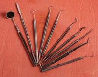 Ensemble d'outils de dentiste Image stock