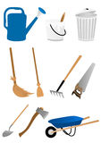 Ensemble d'outils de jardinage Photo stock