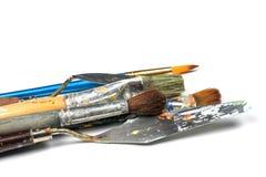 Ensemble d'outils de peinture photographie stock