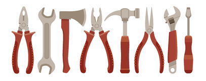 Ensemble d'outils de travail Image stock