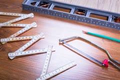 Ensemble d'outils pour la rénovation à la maison Photo stock