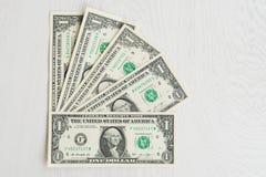 Ensemble d'un dollar américain avec un portrait de président Images stock