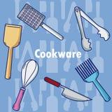 Ensemble d'ustensiles de cuisine Photo stock
