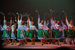 Ensemble of dance Stock Photo
