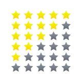 Ensemble de évaluation d'icône d'étoile illustration stock