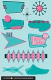 Ensemble de 10 éléments de conception moderne de la moitié du siècle illustration de vecteur