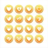 Ensemble de 16 signes de coeurs Illustration Stock