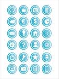 Ensemble de 21 signes de Web Photos stock