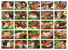 Ensemble de 25 produits de porc image stock