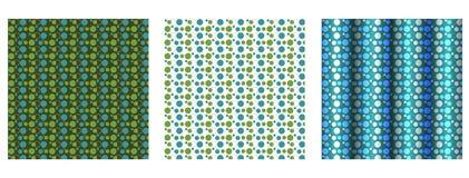 Ensemble de 3 milieux pointillés par polka Photographie stock