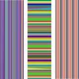 Ensemble de 3 pistes différentes d'isolement sur le blanc Illustration Stock