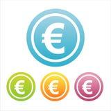 Ensemble de 4 euro signes Illustration Stock