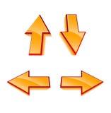 Ensemble de 4 flèches lustrées de vecteur Image libre de droits