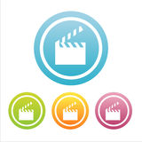 Ensemble de 4 signes de cinéma Illustration Stock