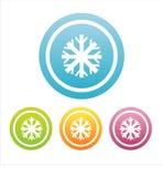 ensemble de 4 signes de flocons de neige Illustration de Vecteur