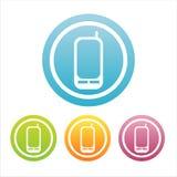Ensemble de 4 signes de téléphone portable Illustration de Vecteur