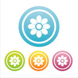 Ensemble de 4 signes floraux Illustration de Vecteur
