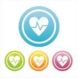 ensemble de 4 signes médicaux de coeurs Illustration Libre de Droits