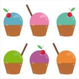 Ensemble de 6 graphismes de gâteaux Illustration de Vecteur